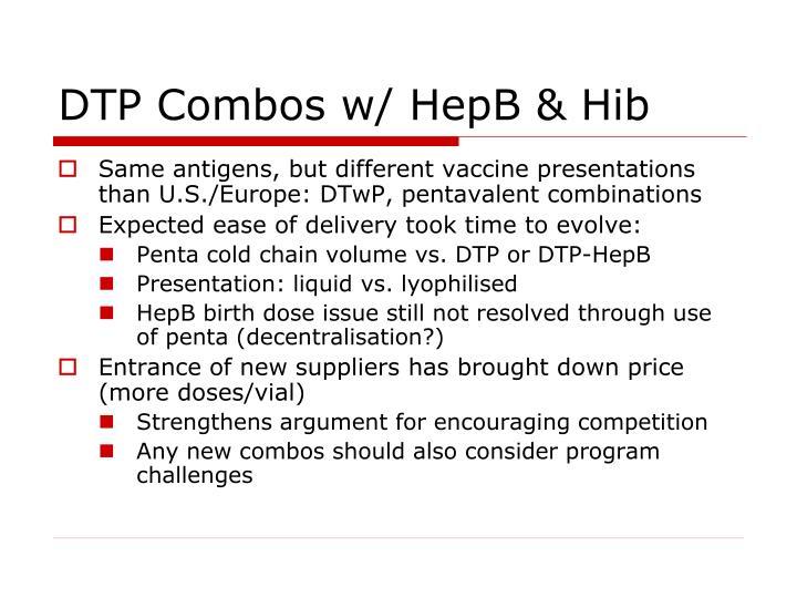 DTP Combos w/ HepB & Hib