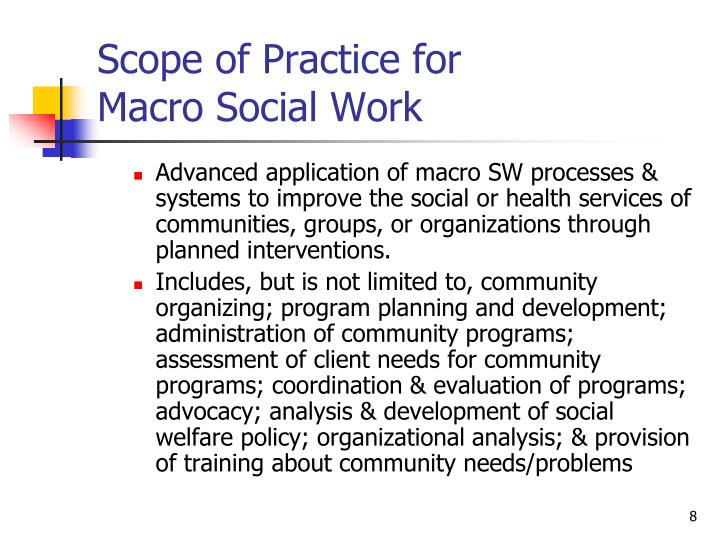 Scope of Practice for