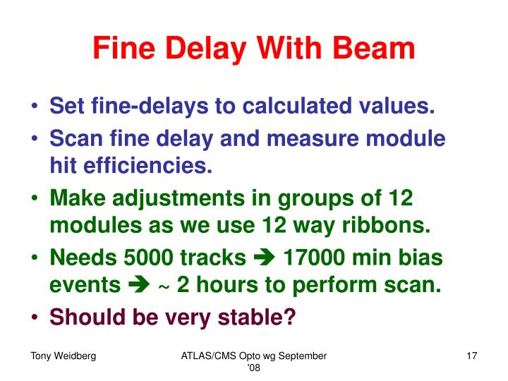 Fine Delay With Beam