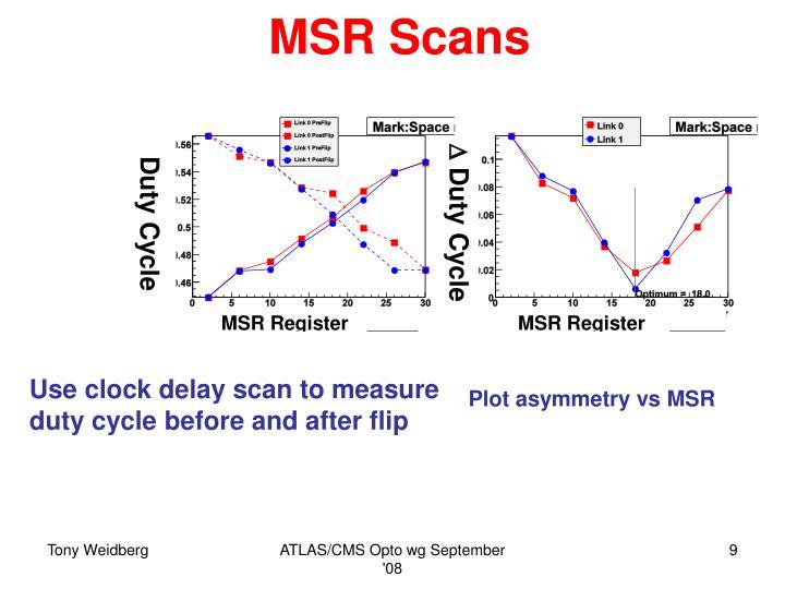 MSR Scans