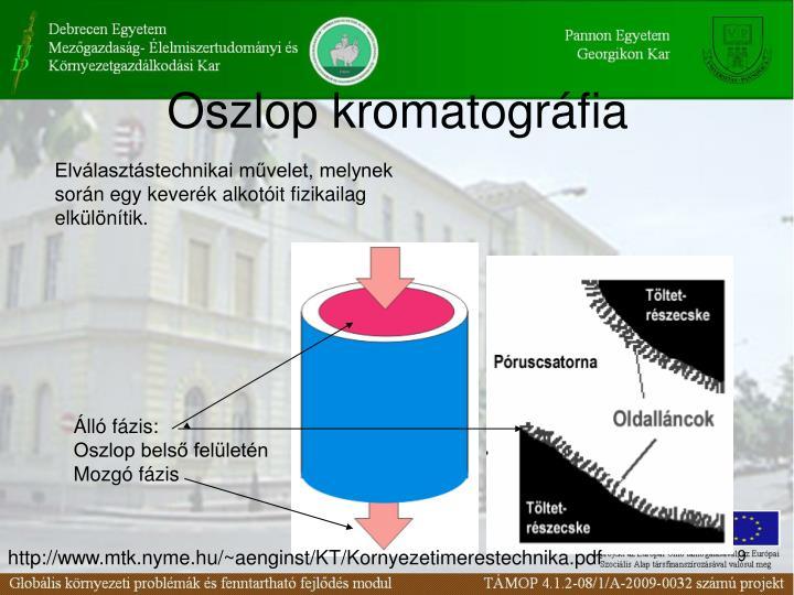 Oszlop kromatográfia