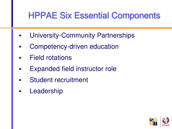 HPPAE Six Essential Components