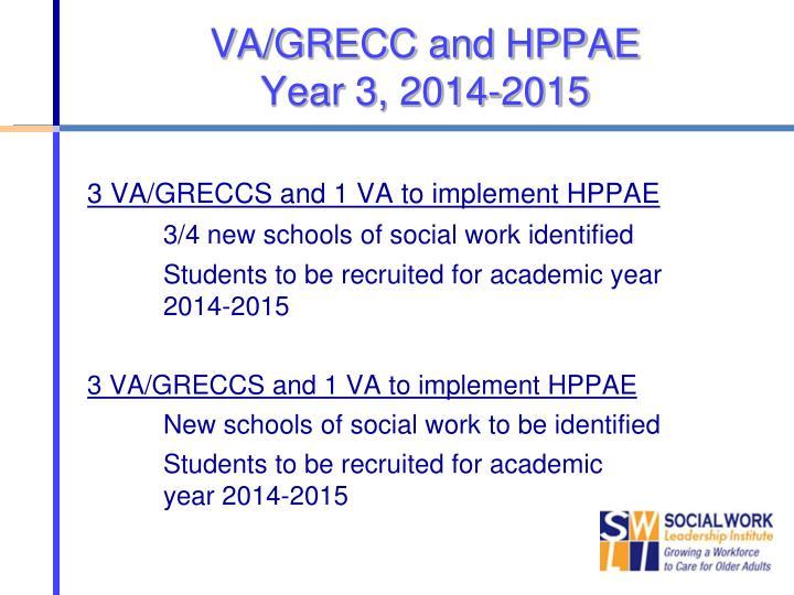 VA/GRECC and HPPAE