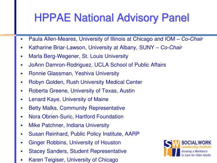 HPPAE National Advisory Panel