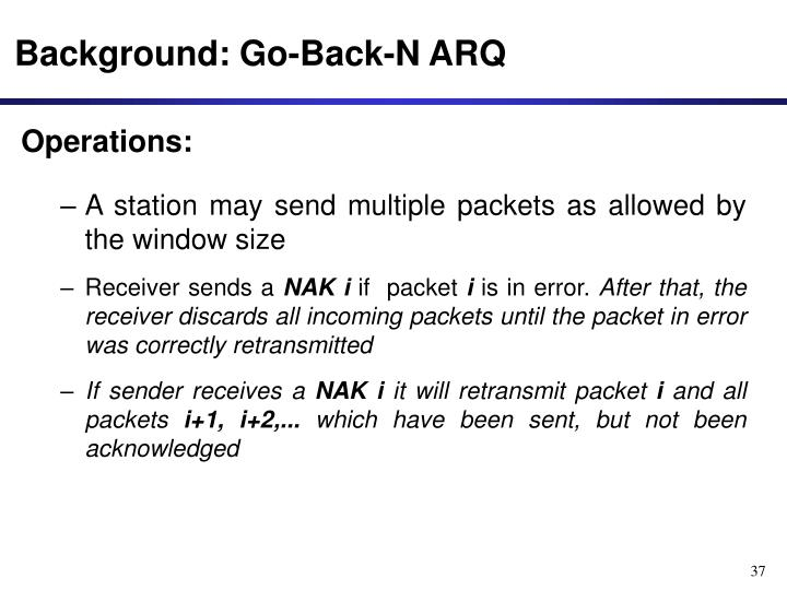 Background: Go-Back-N ARQ