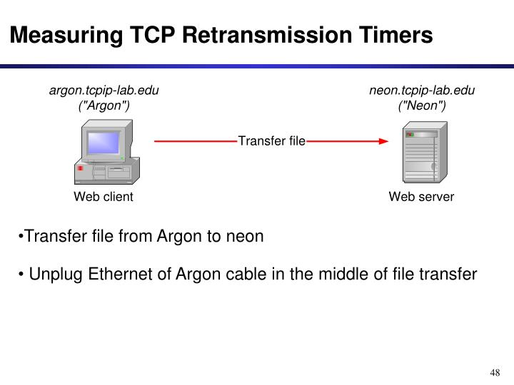 Measuring TCP Retransmission Timers
