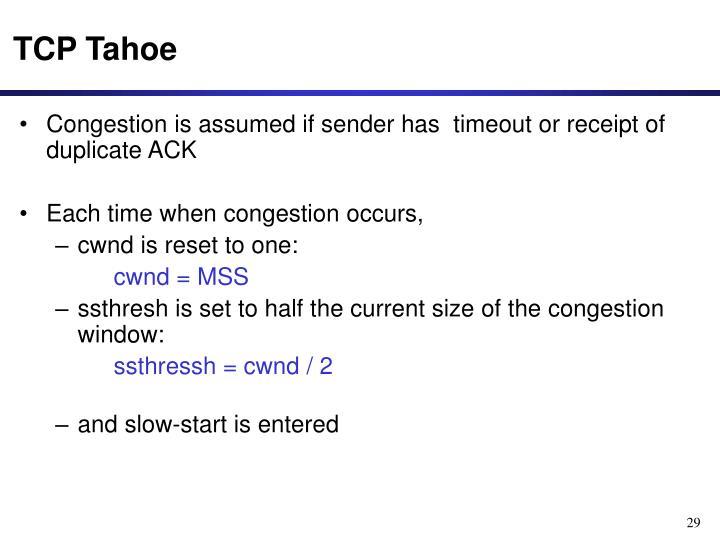 TCP Tahoe