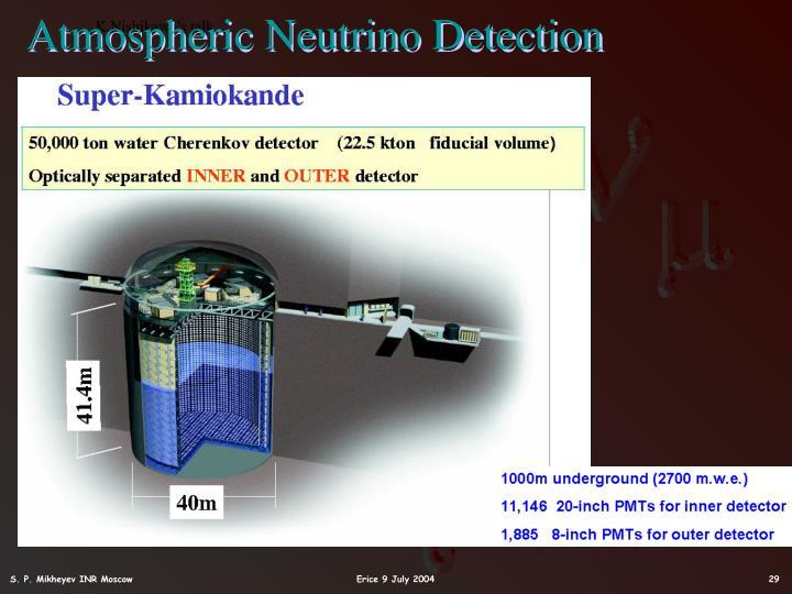 Atmospheric Neutrino Detection
