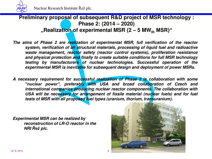 Preliminary proposal of subsequent R&D project of MSR technology