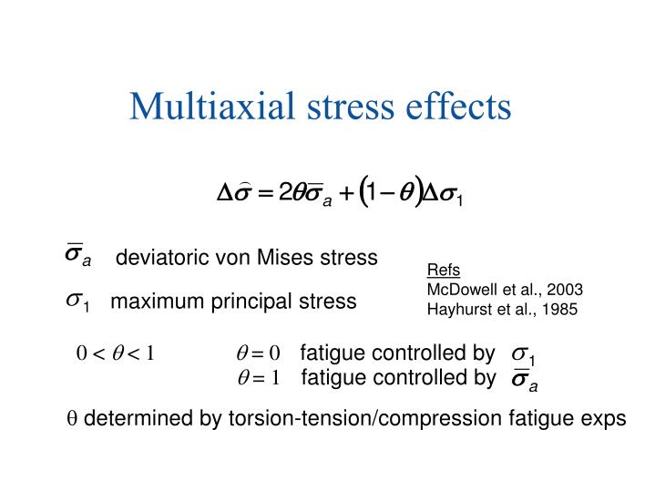 Multiaxial stress effects