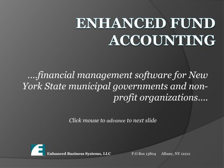 financial management software for new york state municipal governments and non profit organizations