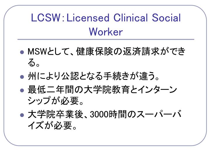 LCSW