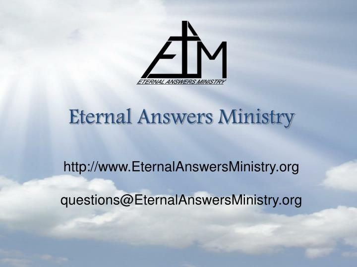 Eternal Answers Ministry