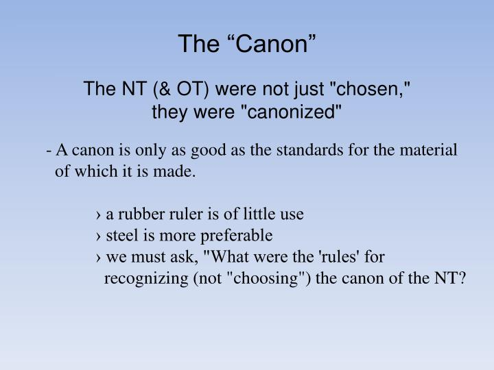 "The ""Canon"""