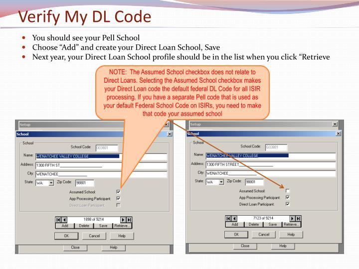 Verify My DL Code