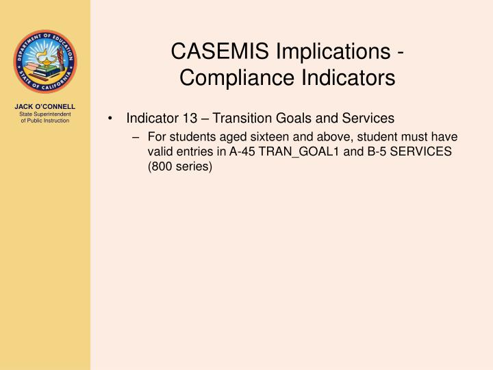 CASEMIS Implications -