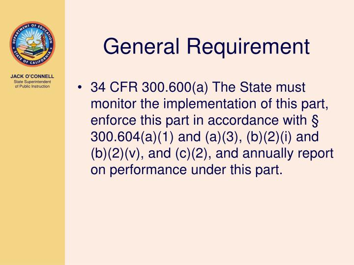 General Requirement