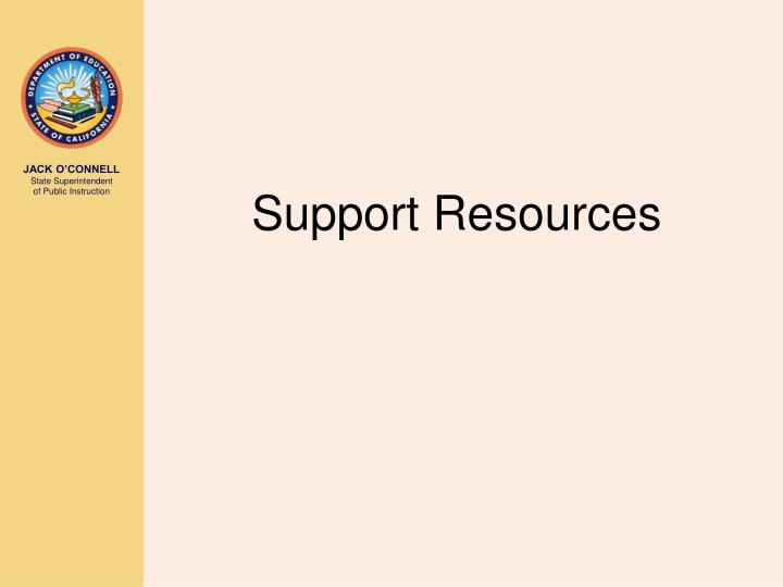 Support Resources