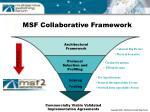 msf collaborative framework
