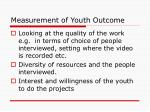 measurement of youth outcome