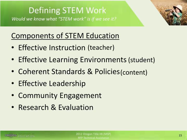 Defining STEM Work