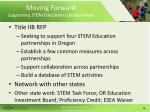 moving forward supporting stem education collaboratives