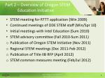 part 2 overview of oregon stem education initiative