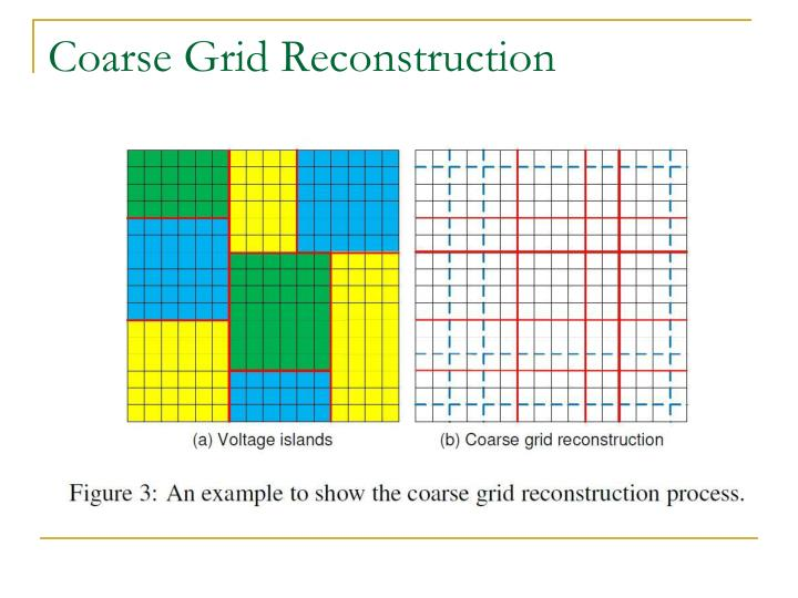 Coarse Grid Reconstruction