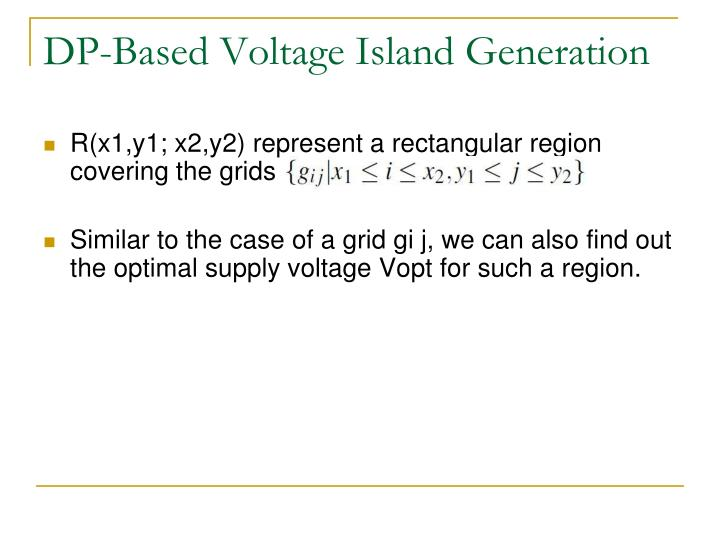 DP-Based Voltage Island Generation