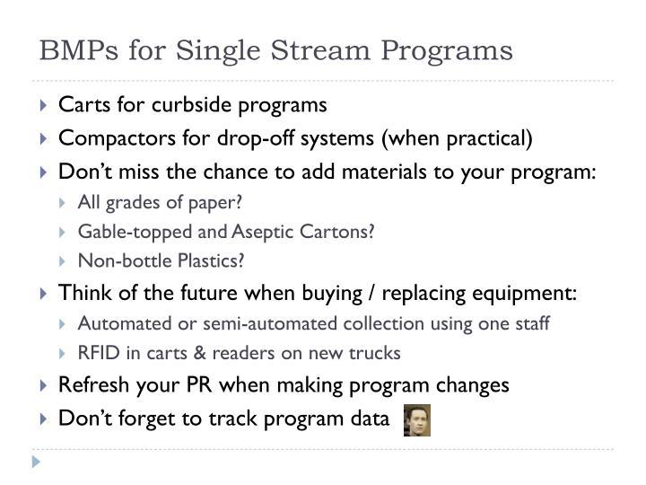 BMPs for Single Stream Programs