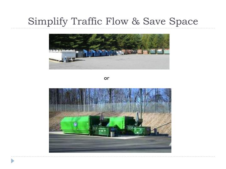 Simplify Traffic Flow & Save Space