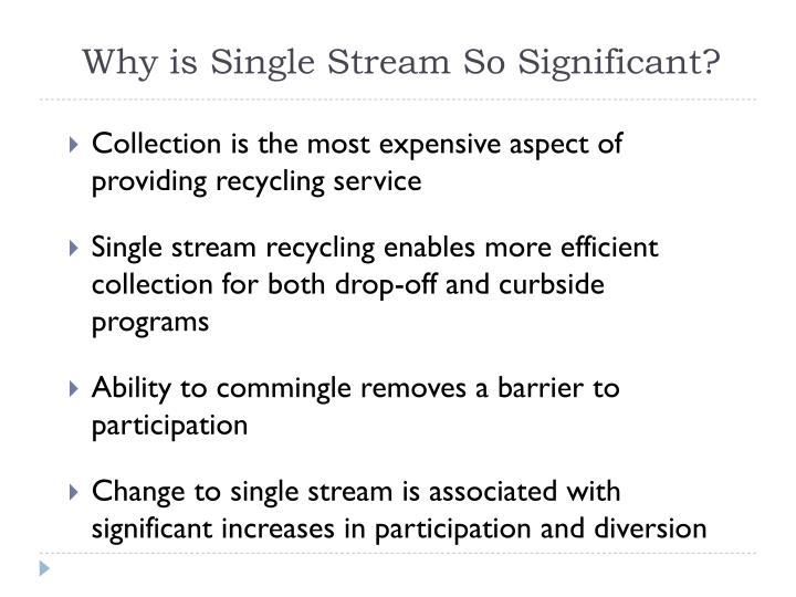 Why is Single Stream So Significant?