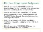 liee cost effectiveness background