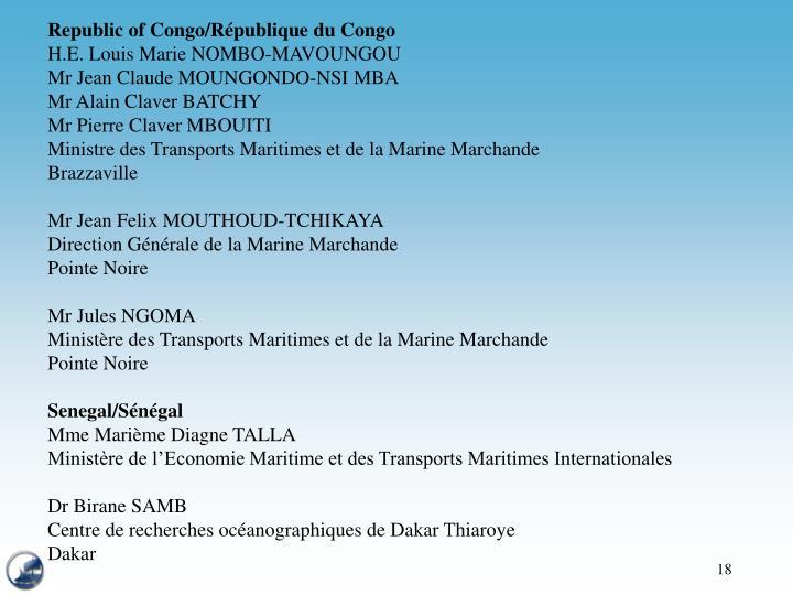 Republic of Congo/République du Congo