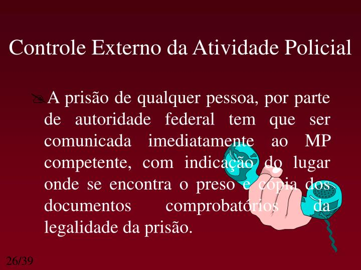 Controle Externo da Atividade Policial