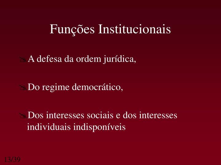 Funções Institucionais