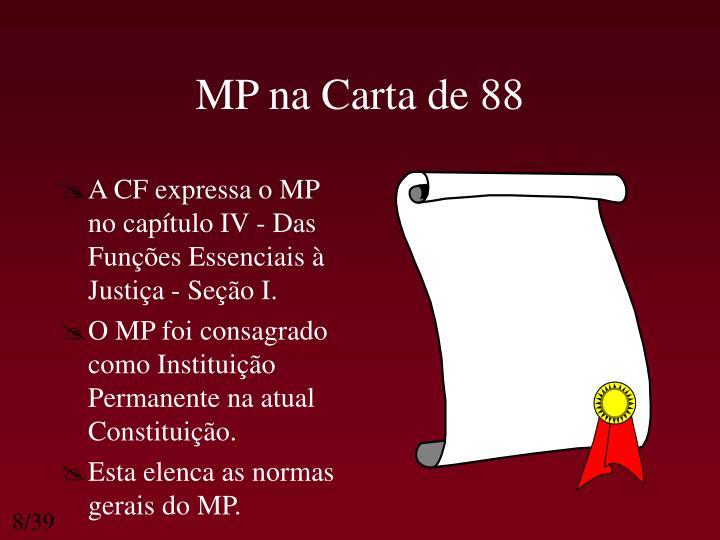 MP na Carta de 88