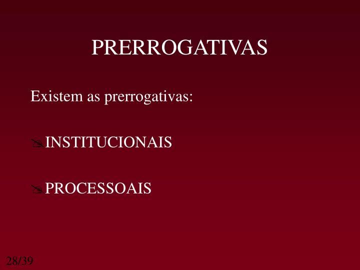 PRERROGATIVAS