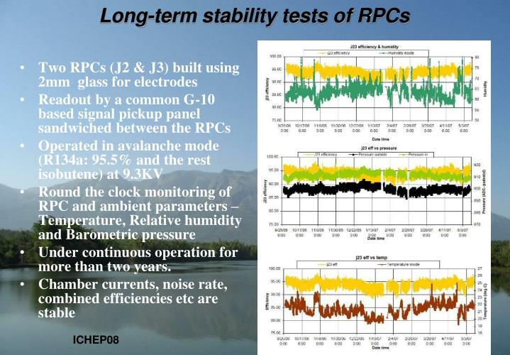 Long-term stability tests of RPCs