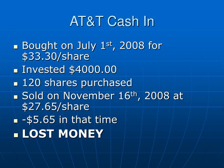 AT&T Cash In