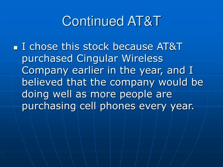 Continued AT&T