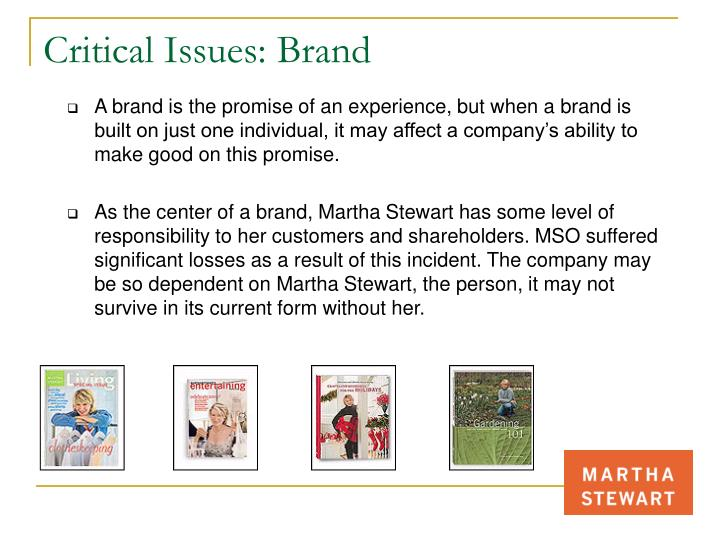 Critical Issues: Brand