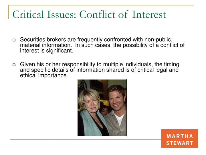 Critical Issues: Conflict of Interest