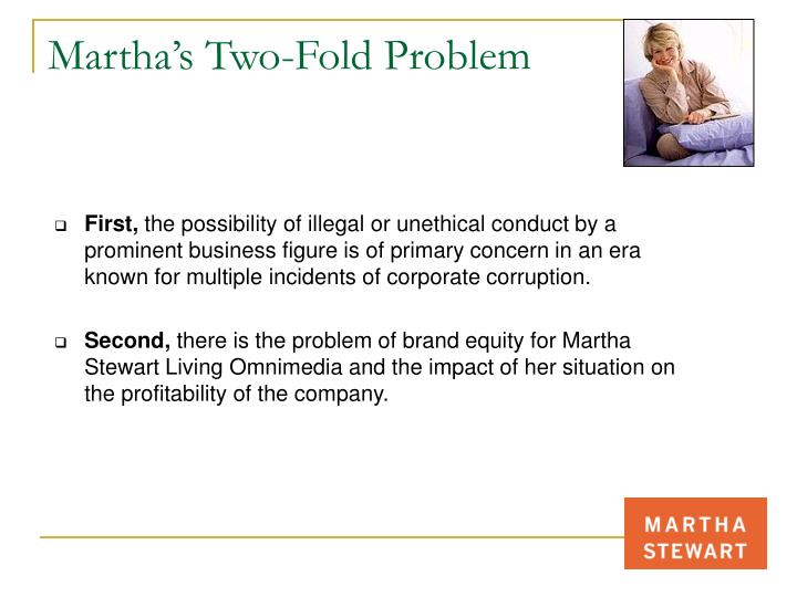Martha's Two-Fold Problem