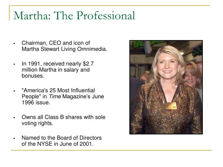 Martha: The Professional