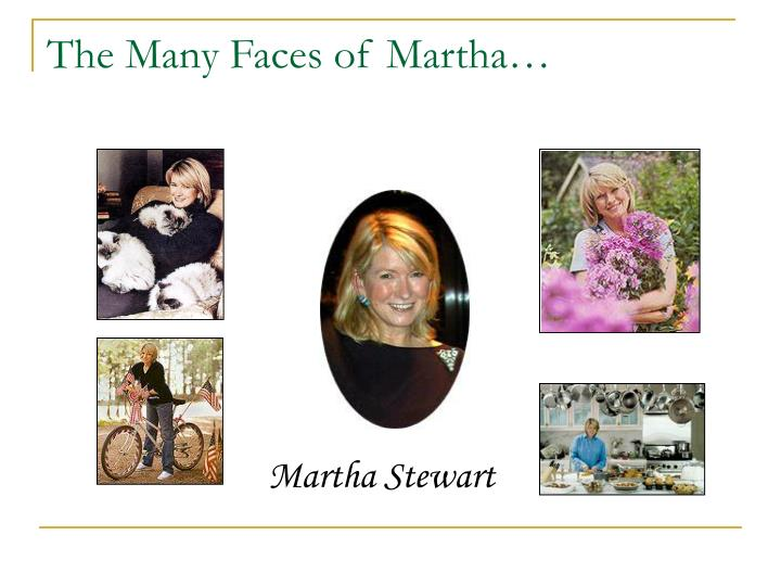 The Many Faces of Martha…