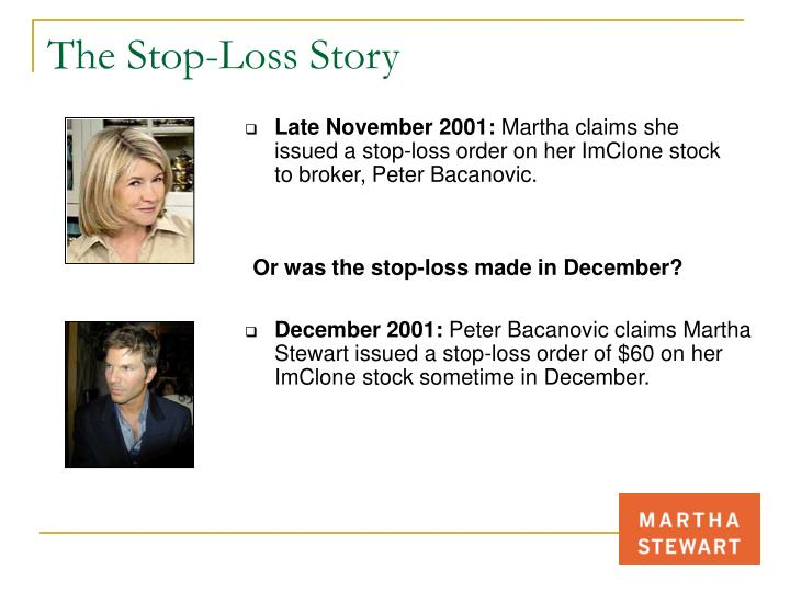 The Stop-Loss Story