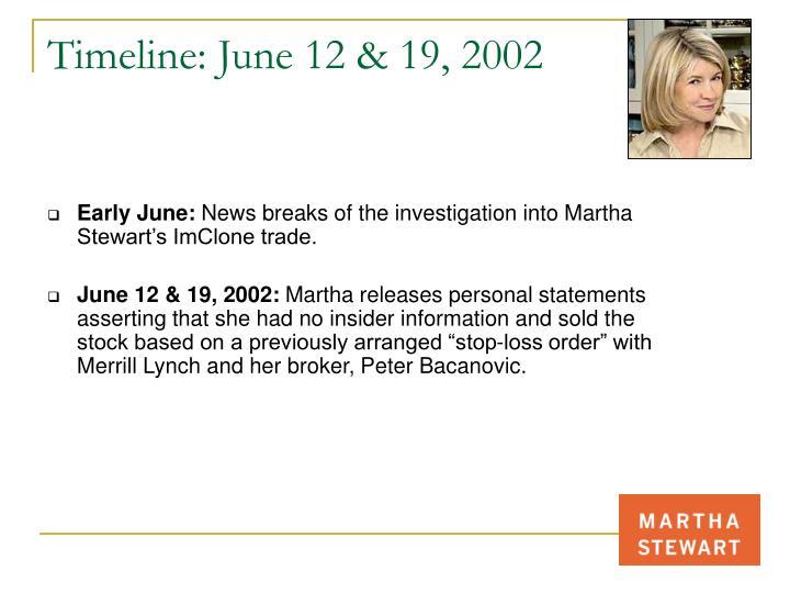 Timeline: June 12 & 19, 2002