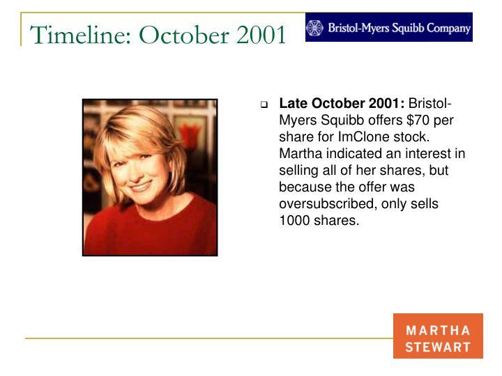 Timeline: October 2001