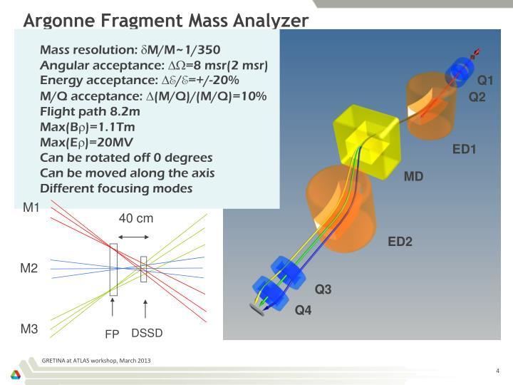 Argonne Fragment Mass Analyzer